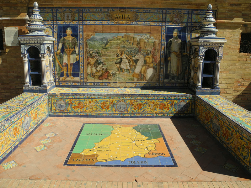Each region of the country as its own tiled mural.