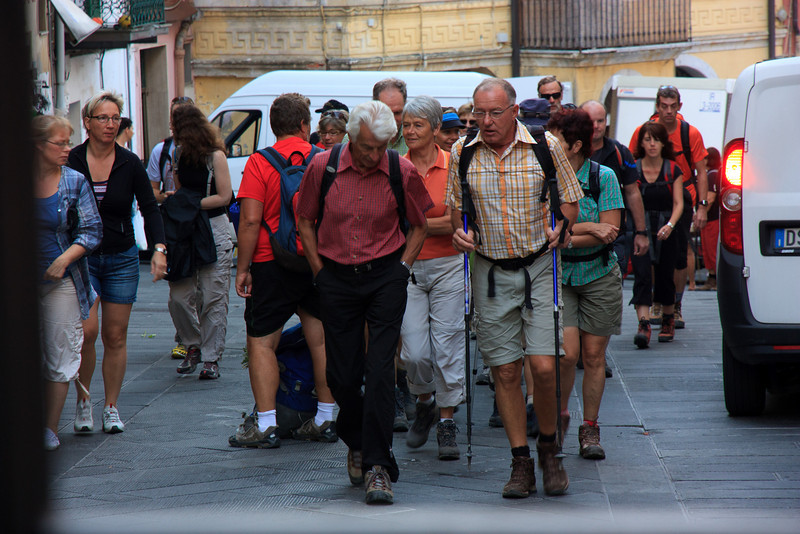 Soon the tour groups arrived and we headed back along the path to Manarola to catch the train.
