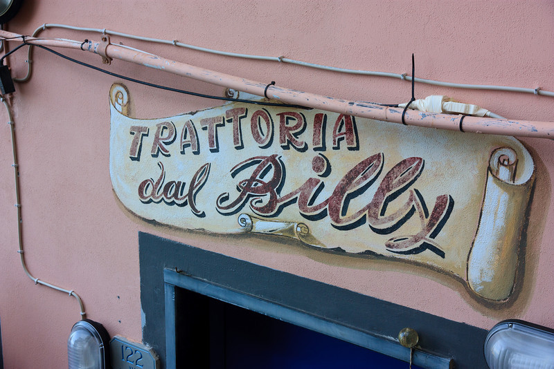 After moving up the hill we were hungry so we walked a few steps down the street to Trattoria dal Billy, where we had one of the most memorable meals of our trip.