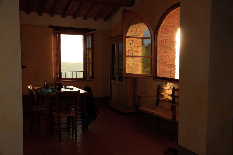 The apartment was spacious, with a full kitchen, dining area, and
