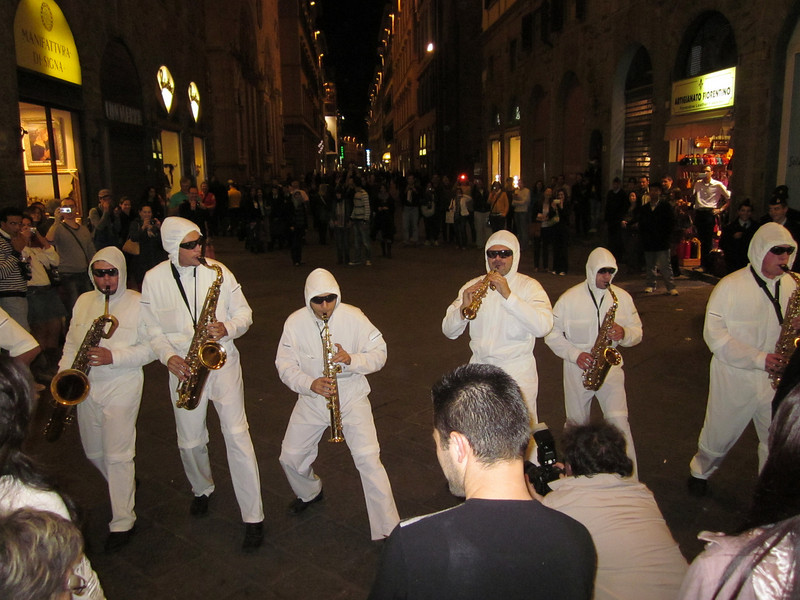 . . . attracting quite a crowed as they played and marched through the streets of downtown Florence. We followed, finding it the perfect surprise ending to a trip that was full of memorable moments.