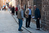 with groups of Montalcinesi meeting for morning conversation on the street outside the tobacco shop.