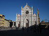 After a quick stop back at Il Villino, we walked to the bus stop across the Arno River to catch a bus up to the Piazzale Michelangelo, passing by the  Basilica di Santa Croce along the way. The weather was spectacular, warm and sunny with a bright blue sky.