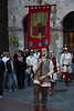 A Medieval festival was going on in the city, complete with this parade of  . . .