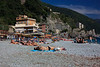 That afternoon we took the train to Monterosso, the only Cinque Terre village where there is a real beach. We swam in the sea and sunbathed -- very relaxing.