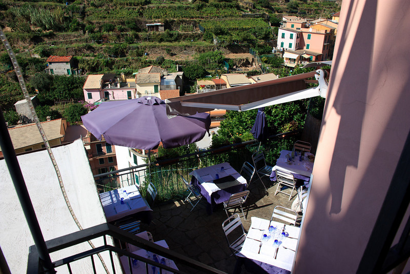 Billy's is a small trattoria perched on the hillside with several different dining levels.