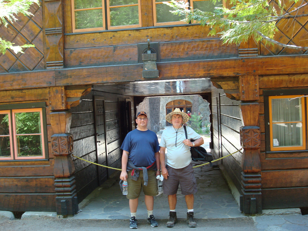 Mike and Uncle Dan near the back entrance to Vikingsholm, Lake Tahoe, CA.  (2008)