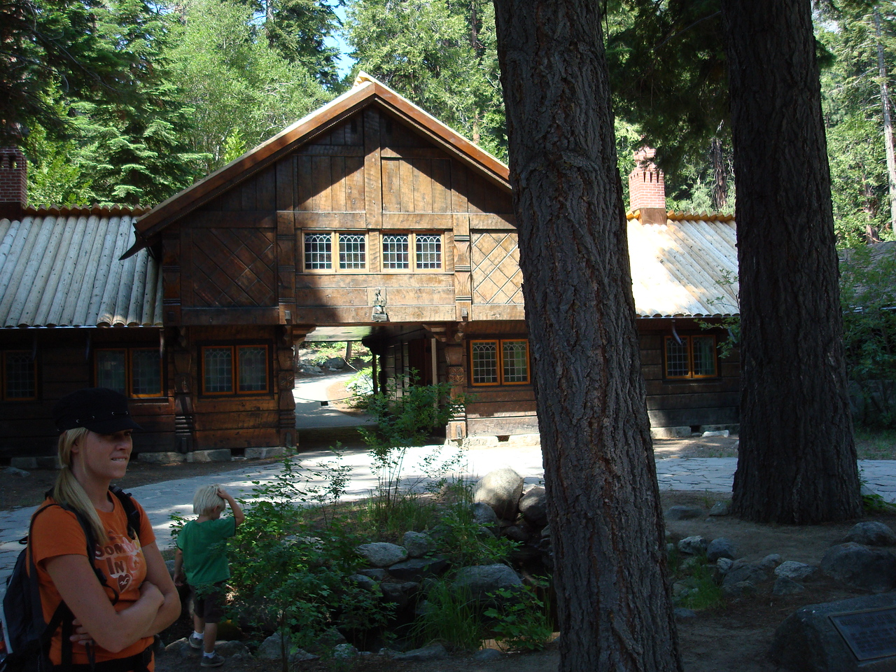 courtyard at Vikingsholm, Lake Tahoe, CA.  (2008)