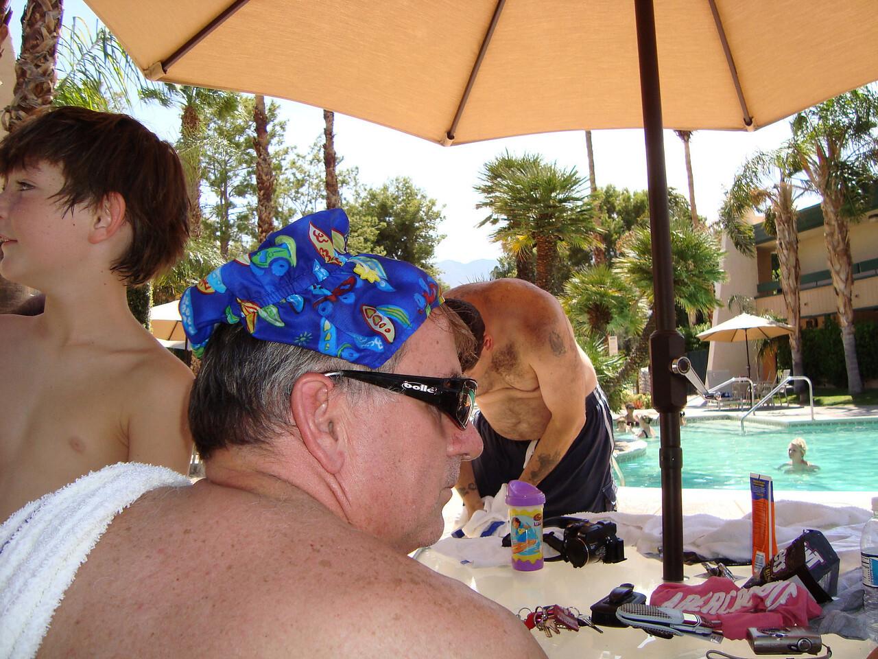 Uncle Dan at the pool.