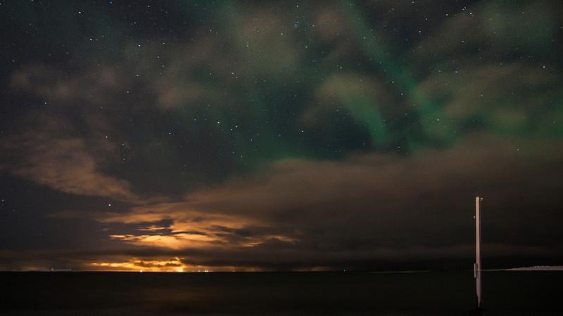 Weak Aurora Borealis