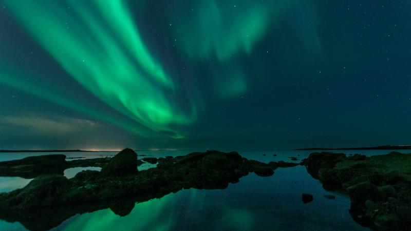 Aurora Borealis in Reykjavik