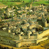 Carcassonne: air view of the medieval city