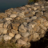 Chilla: rocks forming a barrier (in case of flooding?) alongside the Ganga