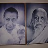 "Pondicherry: On the left is ""the Mother"" and on the right is Sri Aurobindo. If you don't see these photos wherever you go, you may see..."