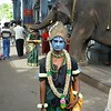 Pondicherry: at the entrance of a temple