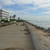 Pondicherry: Goubert Salai, also known as Beach Road, alongside Bay of Bengal