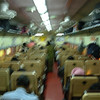 Inside the Shatabdi Express; it's a little blurred, but you get the idea.