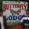 Pokhara: I stayed at the Butterfly Lodge because all of its profits are used by a nonprofit organization run by Govinda, on the right. The organization offers free childcare and education to needy families. On the left is lodge employee Khem.
