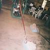 Making kente cloth