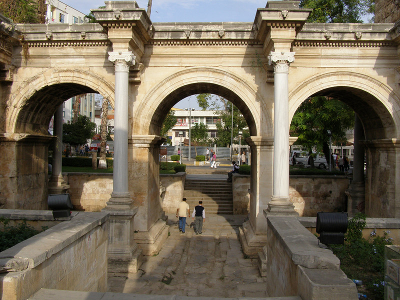 Hadrian's Gate, the entrance to Kaleiçi, the old part of town