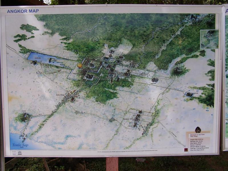 General area of Angkor Thom (Grand Angkor) and surrounding wats