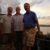Wayne, Colin, me, on the back deck