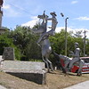 statue to Cervantes´Don Quijote, at city gate