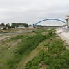 Piura River and bridge for vehicles