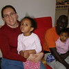 Shelagh Bocoum (2000-2003), with husband Amacire and daughters Joy and Haya