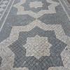 cobblestone sidewalk pattern