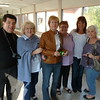 On the bridge that connects the junior high to the high school: Craig Small, Pat Hornby Nelson, April Miller, Terry Rockwell, Lynda Hersch Kanzler, and Linda Olsen Roberts