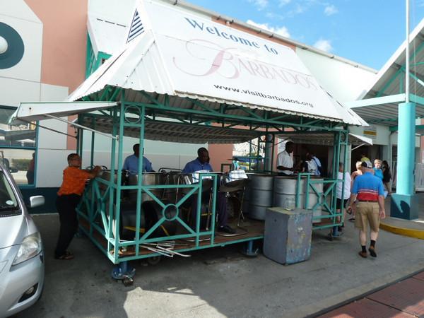 Bridgetown, steel drum welcome