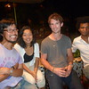 Couchsurfing gathering at the French Cultural Center: Ken (Japan), Natsuno (Japan), Henry (NZ), Malick (France)