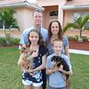 Brian, Ilene, Alexi holding Jemma, Jaron holding Sierra