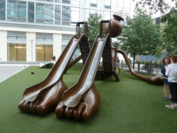 Tom Otterness slide, 42nd Street
