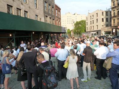 near the High Line: chorus rehearsing in the street