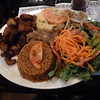 vegan plate at the Senegalese restaurant