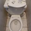 toilet at Senegalese restaurant: just like in Senegal!