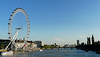 London Eye (left) and Big Ben (right).