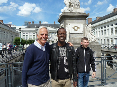 with Mamadou and Pierre