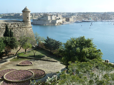 Senglea (L-Isla) as seen from Valletta