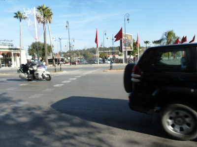 Ville Nouvelle: rue Hassan II - car with the King of Morocco in it