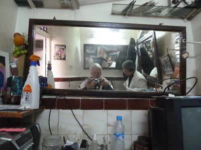 medina, barber shop where I got my hair cut