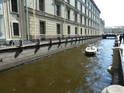 canal next to The State Hermitage Museum