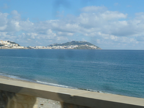 first sighting of Ceuta, from the taxi and in Morocco