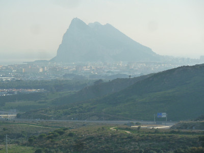 Gibraltar from above La Linea