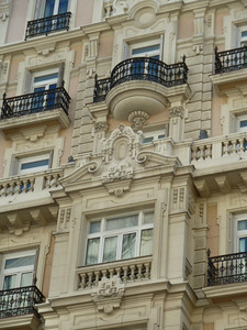 There are lots of architectural wonders in Madrid. It's a pleasure to walk the streets and see delightful touches such as this.
