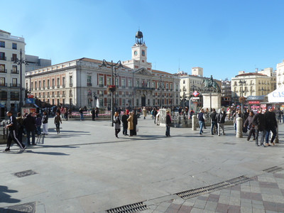 the plaza in front of Madrid City Hall