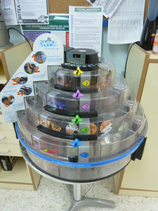 vending machine in the faculty room: I have never seen a machine quite like this