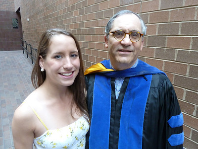 Sunday, Day 1: induction into Phi Beta Kappa  Katie with Prof. Donald Fishman, who was voted by the students to recieve the Outstanding Teaching Award